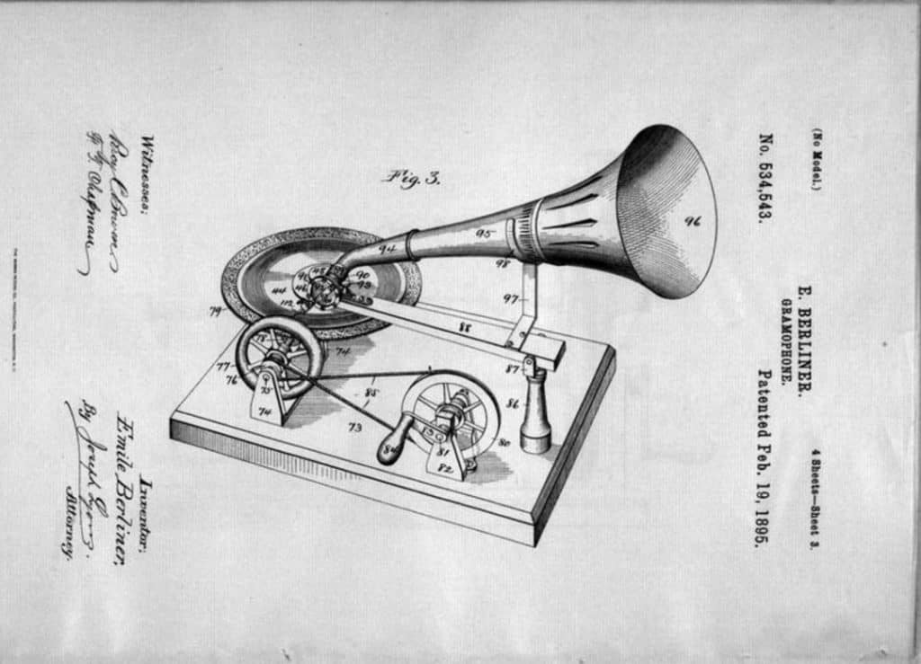 Gramophone Patent Image | History of records